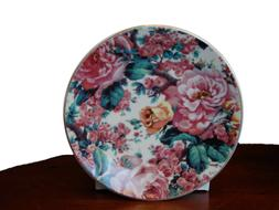 English Rose Pattern Set of 4 Princess Tea Party Cupcake Pla