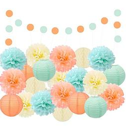 Epique Occasions Party Decoration Kit – Mint, Peach and Iv