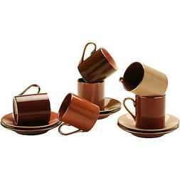 Espresso Coffee Cups with Matching Saucers  by Yedi Housewar