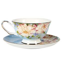ufengke European Bone China Coffee Cups, Ceramic Afternoon T