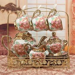 KHSKX European style bone China tea set creative ceramic cof