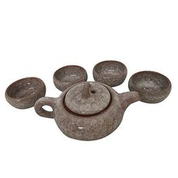 THY HOME Exquisite Glazed 5 PCS Ceramic Tea Set