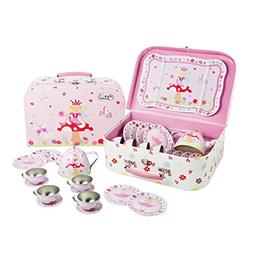 Lucy Locket Fairy Tale Tin Tea Set & Carry Case Toy  Pink