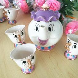Fashion Beauty And The Beast Tea Set Mrs Potts Chip Cup Cart