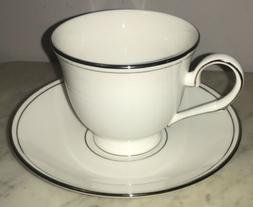 Lenox Federal Platinum Tea Cup and Saucer Set NWT
