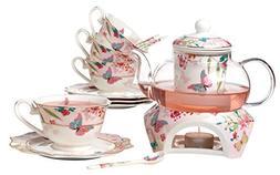 Jusalpha Fine Bone China Coffee Cups Flower Series Teacup Sa