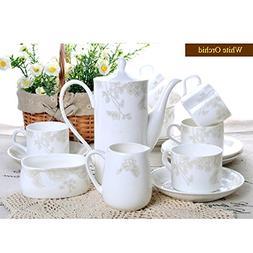 Yosou Home 15-Piece Fine Bone China Porcelain Coffee Tea Set