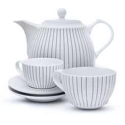Tea Branch Fine Porcelain Tea Set For 2 With Teapot, Tea Cup