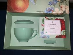 TEA FORTE Fleur Gift Set - Tea Cup, Cover, Tray, 10 Handcraf