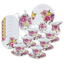 Floral Pageant Deluxe Porcelain Tea Set