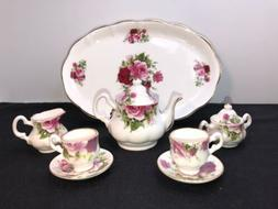 Florence Collectables Fine Bone China Roses Mini tea set Mad