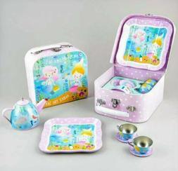 Floss & Rock Mermaid 7 Piece Play Tin Tea Set