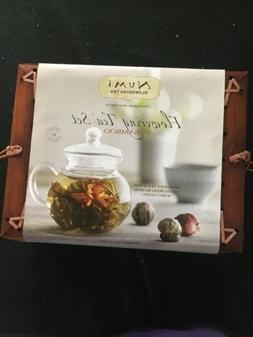 Numi Organic Tea Flowering Gift Set in Handcrafted Mahogany