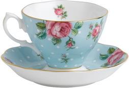 Royal Albert Formal Vintage Teacup and Saucer Boxed Set, Pol