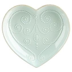 Lenox French Perle Ice Blue Heart Dish