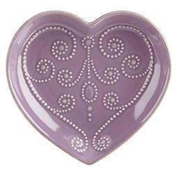 Lenox French Perle Lavender Heart Dish