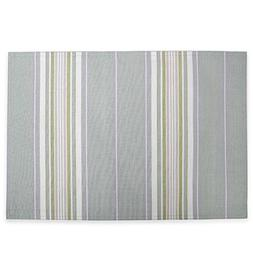 "HomeCrate French Perle Stripe Collection Placemats, 13"" X 19"