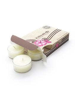 Fresh Peppermint Beige Tea Light Candles 6 Pack - Highly Sce