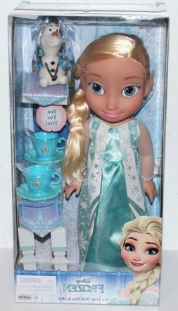 DISNEY FROZEN TEA TIME WITH ELSA AND OLAF DOLL SET