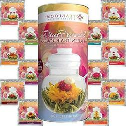 Teabloom Fruit Flowering Tea - 12 Assorted Fruit Blooming Te