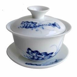 Gaiwan Porcelain Chinese Kung Fu Sancai Tureen Teacup 4oz Se