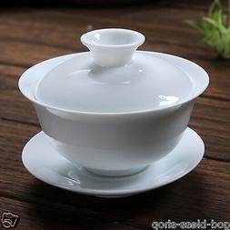 Chinese cup bowl dehua white porcelain tureen 120ml gaiwan w
