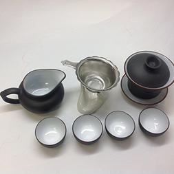 Gaiwan Tea Set with 9pcs with a Free Infuser