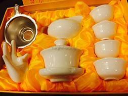 Music City Tea Gaiwan Tea Set Pure White Tea Set With Gift B