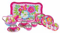 Schylling Garden Party Tea Set Fun Girls Kids Pretend & Play