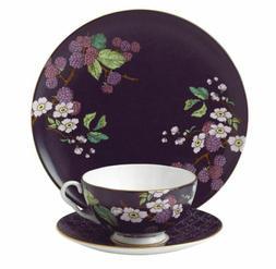 Wedgwood 3 Piece Garden Tea Plate Set, Blackberry