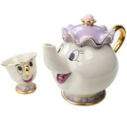 Genuine  Beauty And The Beast  Tea Set Mrs Potts Teapot