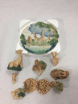 Giraffe Giraffes Vintage Miniature Tea Set Popular Imports