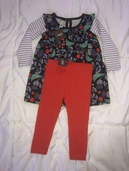 Tea collection Girls Two Piece Set NWT 12-18 Months