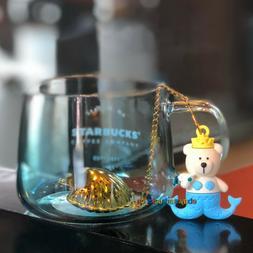 Starbucks Glass Cup 2019 China 430ml Anniversary Mermaid Bea