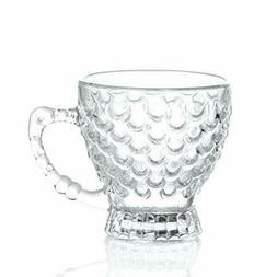 Glass Mug Set Tea Coffee Graan Tea For Everyday Use 6 Pcs