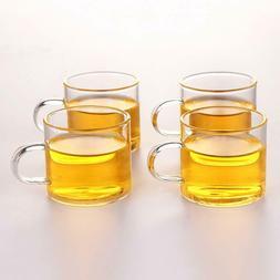 Glass Tea Cup Coffee Mug - OBOR Clear Borosilicate Glass Cup