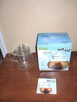 Primula Glass Tea Pot w/Tea Infuser 3 Pc Set 40 oz- 5 Cup 12