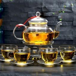 glass tea set 4 borosilicate glass cups