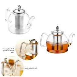 Glass Teapot With Infuser Leaf Tea Maker Kettle Set Coffee S