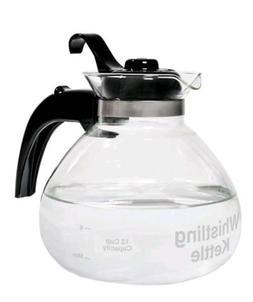 Glass Whistle Tea Kettle For Gas Stove Top Induction Water B