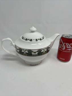 Teavana Green Gold Teapot Bone China