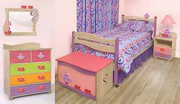 Room Magic Grey Wash 5 Piece Bedroom Set, Girl Teaset