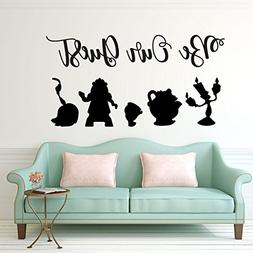 Be Our Guest Wall Decal - Beauty and the Beast - Lumiere, Mr