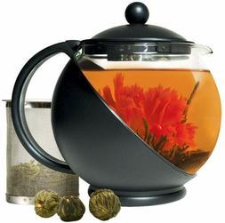 Primula Half-Moon Teapot for Flowering Tea Set – Wide Mout