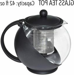 Half Moon Teapot with Removable Infuser, Borosilicate Set Gl