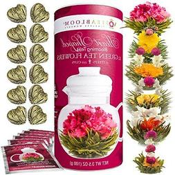 Teabloom Heart Shaped Flowering Tea - 12 Assorted Blooming T