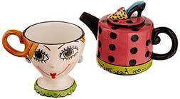 Appletree Design Shoes On Her Mind Tea for One Set, Teapot R