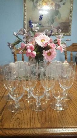 Princess House Heritage short stem set of 7 goblets #425 ice