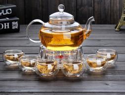 High Borosilicate glass Tea Pot Set Infuser Coffee Tea Leaf