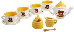 Honey Bear Porcelain Tea Set - Brand New Design Kitchen Play